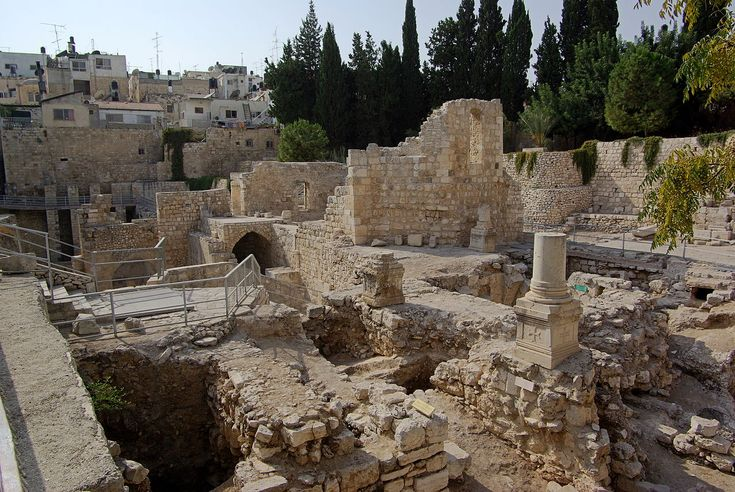 The Pool Of Bethesda Is Located Near The Sheep Gate In Jerusalem Description From Christinsight Com I Searched For T Bethesda Pool Bethesda Natural Landmarks