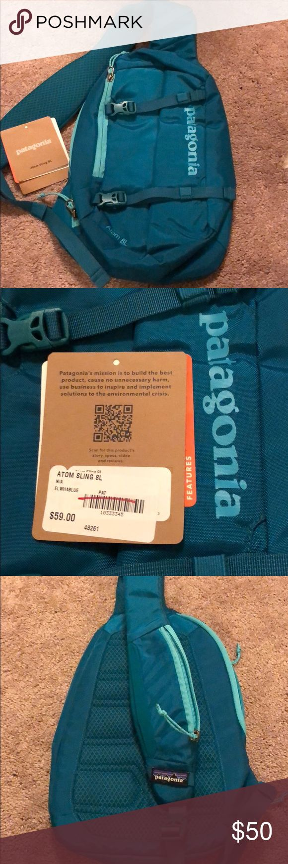 Patagonia Atom Sling 8L NEW WITH TAGS!!!!! From a smoke free home — this is the newer version atom sling. This has never been carried. I love it just decided I wanted a different bag! Patagonia Bags Crossbody Bags