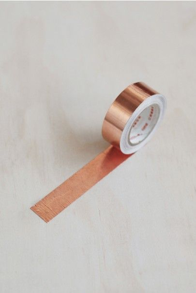 Beautiful copper tape from Tom Pigeon Stationery
