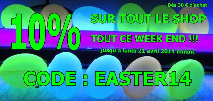 Happy Easter!!   LA Boutique Lumière Noire et FLUO : Maquillage Fluorescent, tenture UV, laine fluo, peinture fluo,