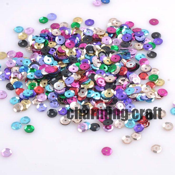 2000 pz rotonda paillettes per l'artigianato e paillette cucito scrapbooking lentejuelas 6.5mm circa 33g CP0354