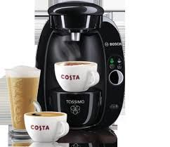 Selection of Costa Coffee available with Tassimo
