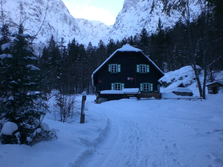 The Krnica mountain hut, located in a clearing beneath the mighty 'Križ'.