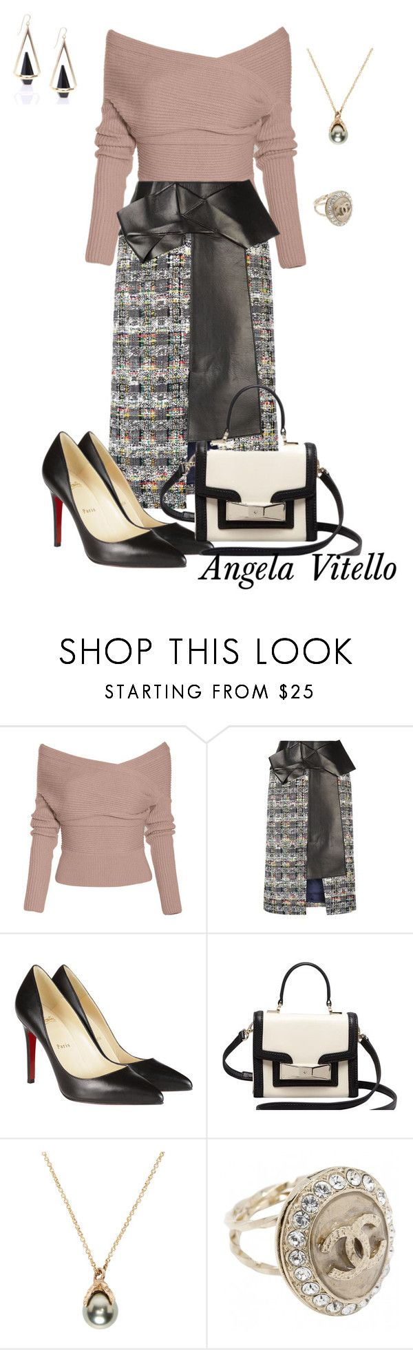 """""""Untitled #673"""" by angela-vitello on Polyvore featuring Alexander McQueen, Christian Louboutin, Kate Spade, Pearls Before Swine, Chanel, women's clothing, women, female, woman and misses"""