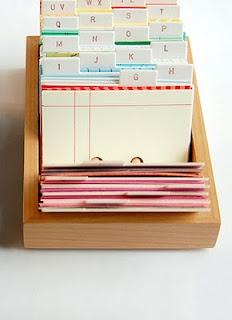 Geschenkideen für Freunde & Familie alphabetisch sortieren und sammeln, damit man zum Geburtstag/Weihnachten Ideen parat hat.