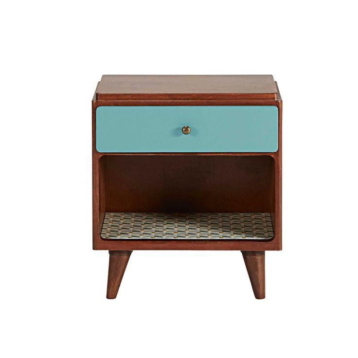 Vintage 1-drawer bedside table | Maisons du Monde