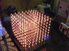 The 8x8x8 LED cube creates stunning visuals. Make one with Arduino http://www.instructables.com/id/8x8x8-Arduino-LED-Cube/