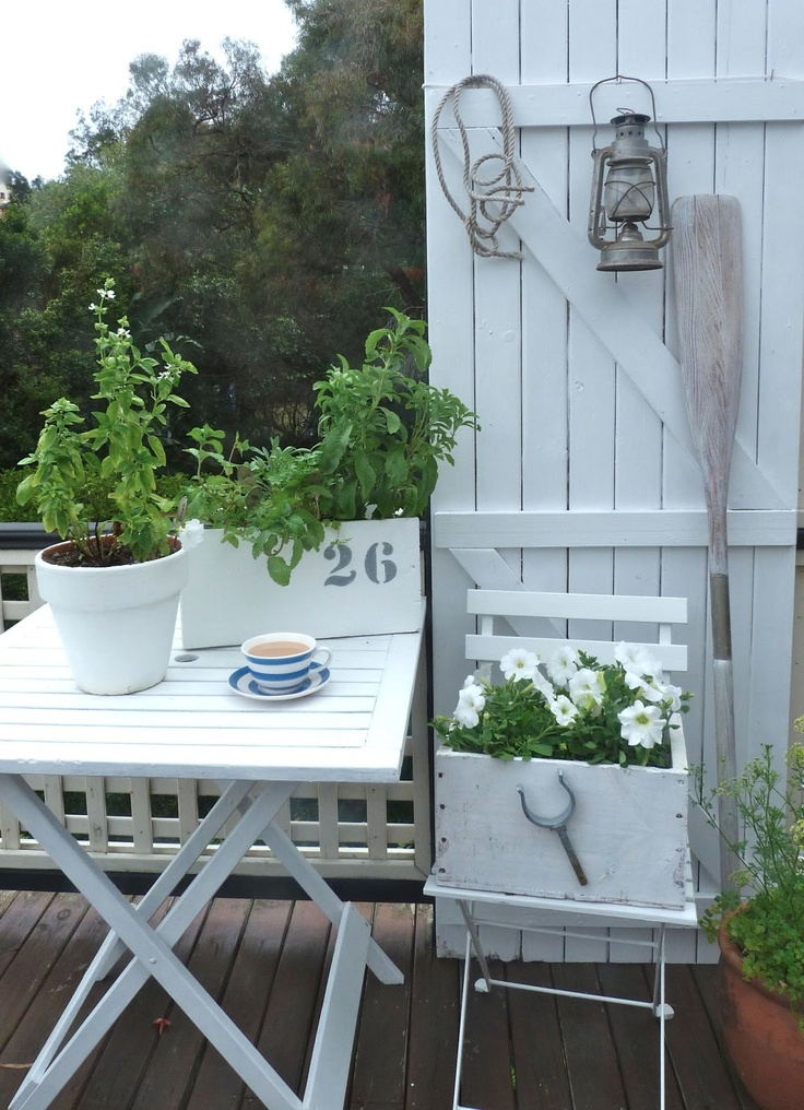 White patio corner