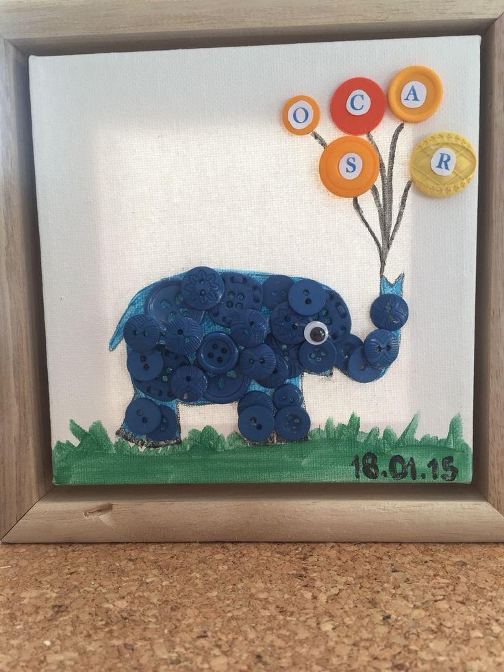 Lille Oscar elefant - barselsgave