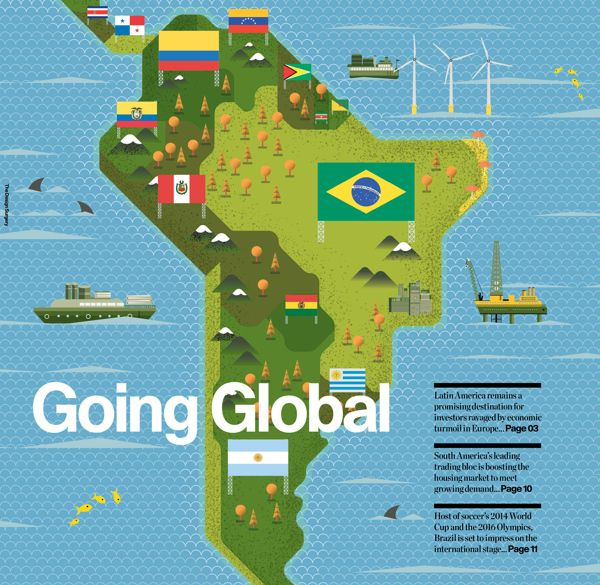 Illustrations: Raconteur covers Q3 - Q4 2012 on Behance