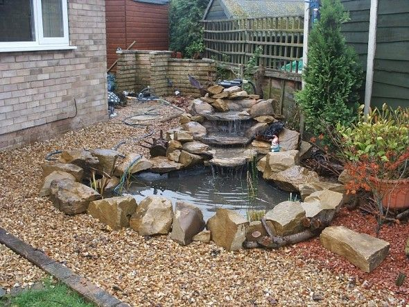 Small Backyard Pond Designs backyard pond or raised bed using a large plastic container Small Rocky Ponds For Balancing And Refreshing Value On A Garden