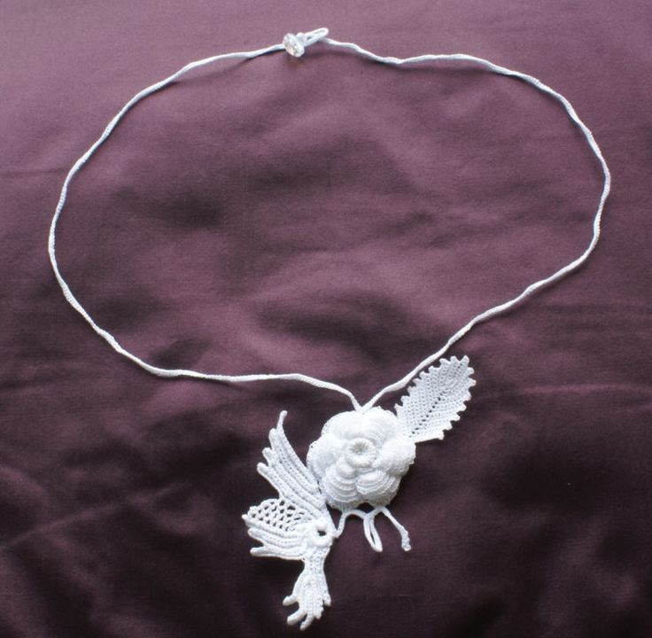 Irish Filigree Crochet Necklace Free Pattern : Irish crochet necklace Crochet Irish Lace Pinterest