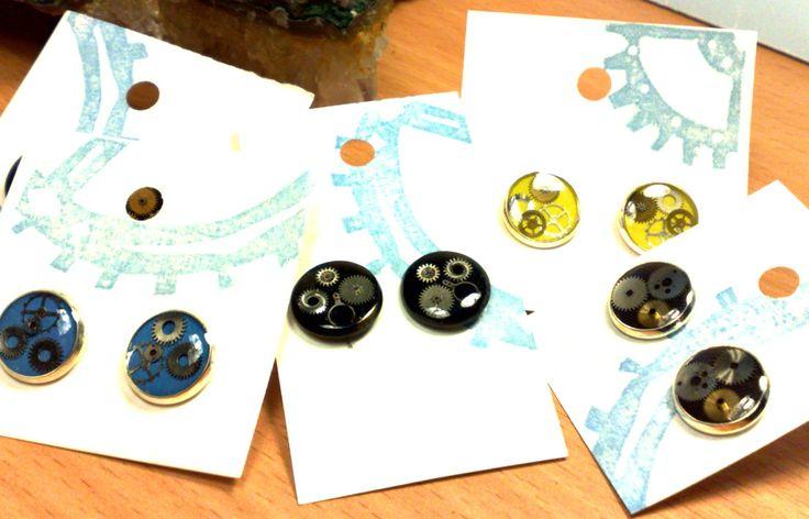 steampunk earrings resin