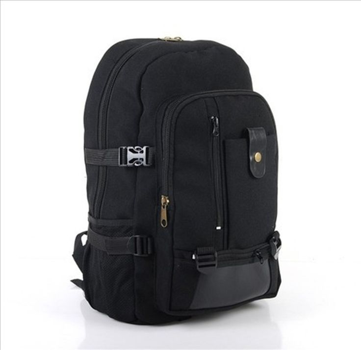 24.30$  Watch now - http://aliw8j.shopchina.info/go.php?t=32632016806 - 2016 New Male fashionable casual canvas backpack middle school students school bag travel bag large capacity backpack man bag  #shopstyle