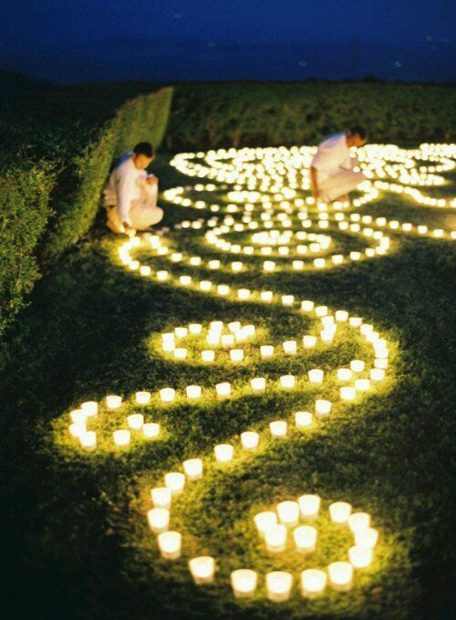 Inexpensive votives are a beautiful idea for an evening wedding or party..
