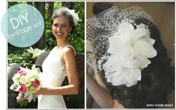 DIY Birdcage Veil Tutorial Birdcage veils are simple, elegant, and a fantastic option as opposed to traditional veils as they lack the length and the weigh