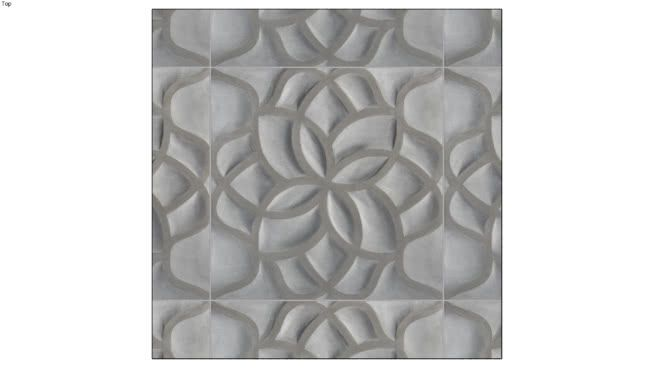 Warm grey accented by gentle striations of brown and green tones, hand-carved in an abstract floral pattern. #artistic_tile #Exterior_Wall #igloo_studios #interior_wall #product_connect #Steam_Shower_Wall #tile #tile_material