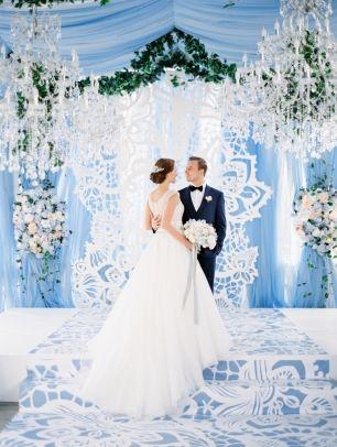 Свадьбы в голубых тонах
