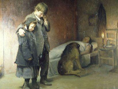 Julio Fossa Calderón(Valparaíso, Chile, 1884-1946)- Los huérfanos - 1912