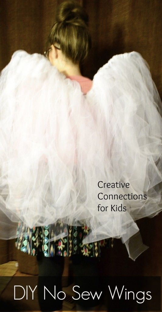 DIY No Sew Wings from Creative Connections for Kids. Easy wings to make for you child's Halloween costume!