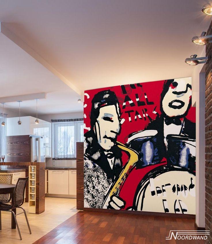 Behang van Herman Brood /Noordwand. Verkrijgbaar bij Deco Home Bos in Boxmeer. www.decohomebos.nl