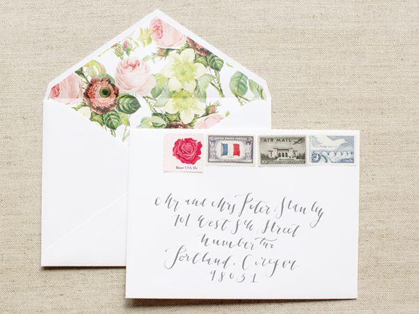 Original Description Megan Nicks Calligraphy And Floral Wedding Announcements Design Photo Credits La Happy