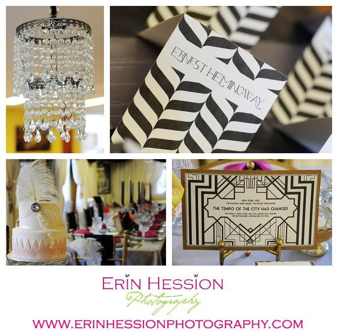 Great Gatsby Table Decor Great Gatsby Themed Event