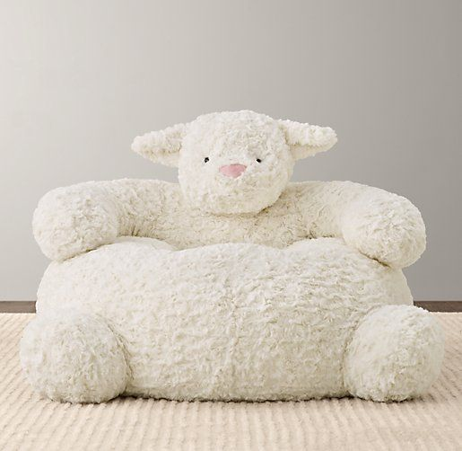 I've wanted one for our nursery since Lore was a baby!   Textured Plush Lamb Chair   Nursery Accessories   Restoration Hardware Baby & Child