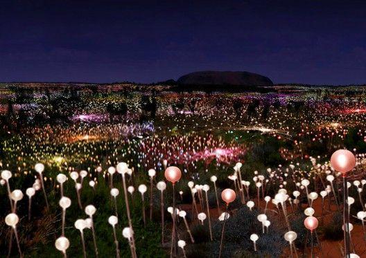 Solar Powered Field of Light at Uluru by Bruce Munro: Bruce Munro, Yesterday Rocks, Trav'Lin Lights, The Artists, Lights Installations, Brucemunro, Fields Of Dreams, Solar Power, Solar Energy
