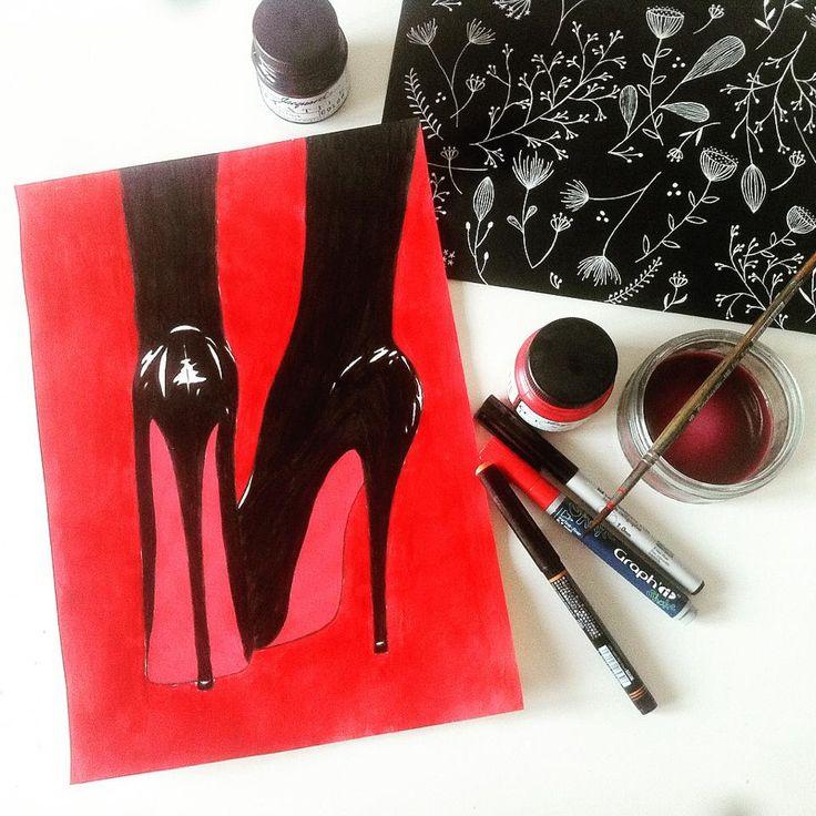 High heels #stiletto #illustration #heels (960×960)