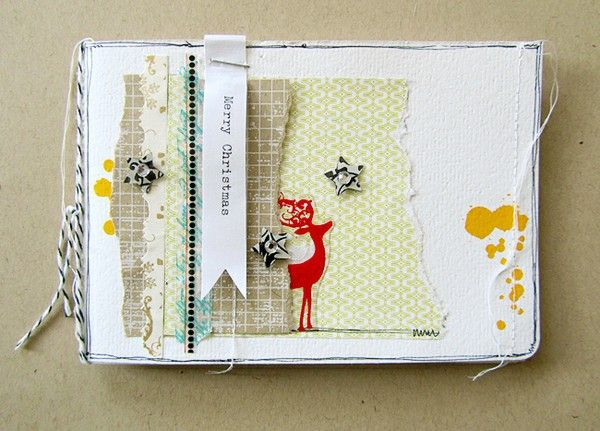December Daily cover - I LOVE this.Christmas Cards, Janna Werning, December Daily, Screens Prints, Minis Dog Qu, Janna Werner, Christmas Minis Album, Hambling Screens, Christmas Mini Albums