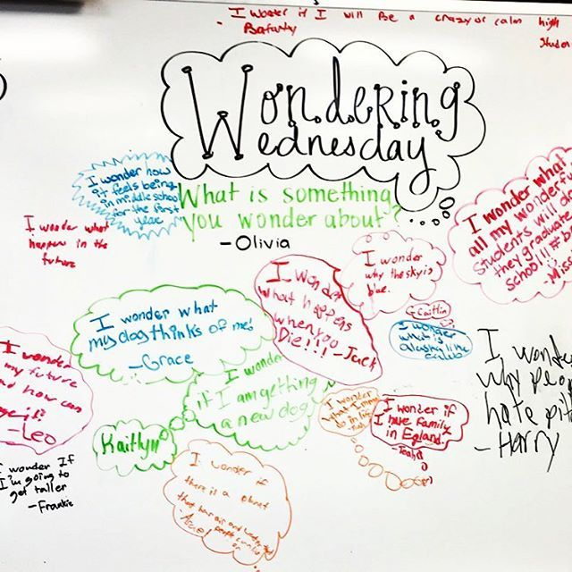 Student led white board ideas... loved this one #wonderwednesday…