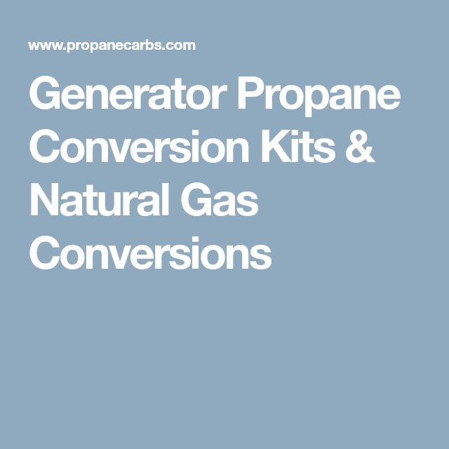 Generator Propane Conversion Kits & Natural Gas Conversions