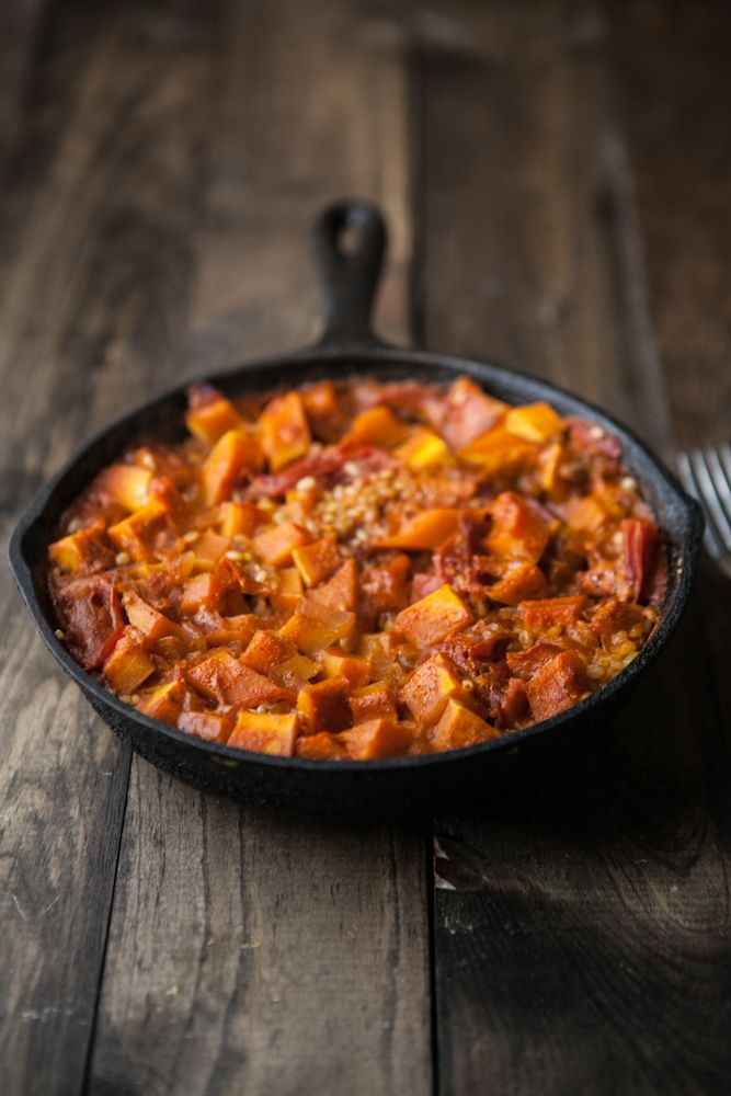 Curried Butternut Squash and Brown Rice Skillet (this was good ...