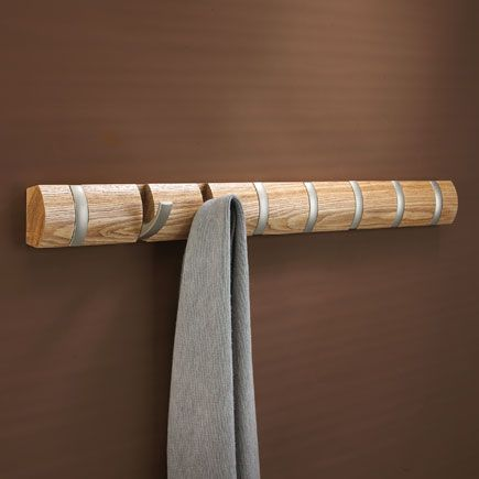 Umbra Flip 8 Hook Natural – Large modern designer coat rack by Umbra A whole line of these would be sweet.