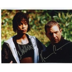 "Kevin Costner and Whitney Houston Autographed ""The Bodyguard"" Cast 8x10 Photo"