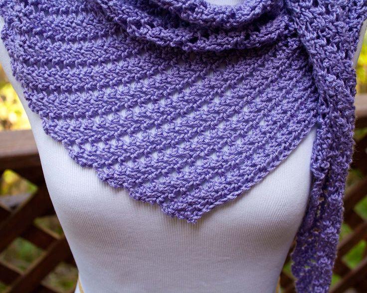 Main St. Shawl Free crochet pattern - asymetrical