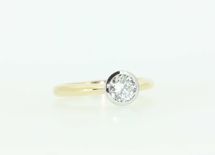 Gorgeous bezel set diamond solitaire, hand made on site by Clayfield Jewellery in Nundah Village, North Brisbane