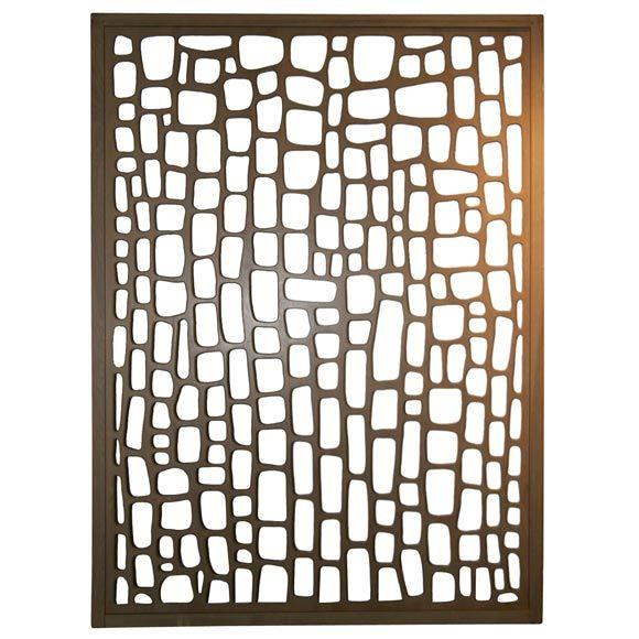 Modernist Room Divider / Wall Sculpture - USA (Circa 1950's)