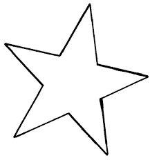 Resultado de imagem para moldes de estrellas para imprimir
