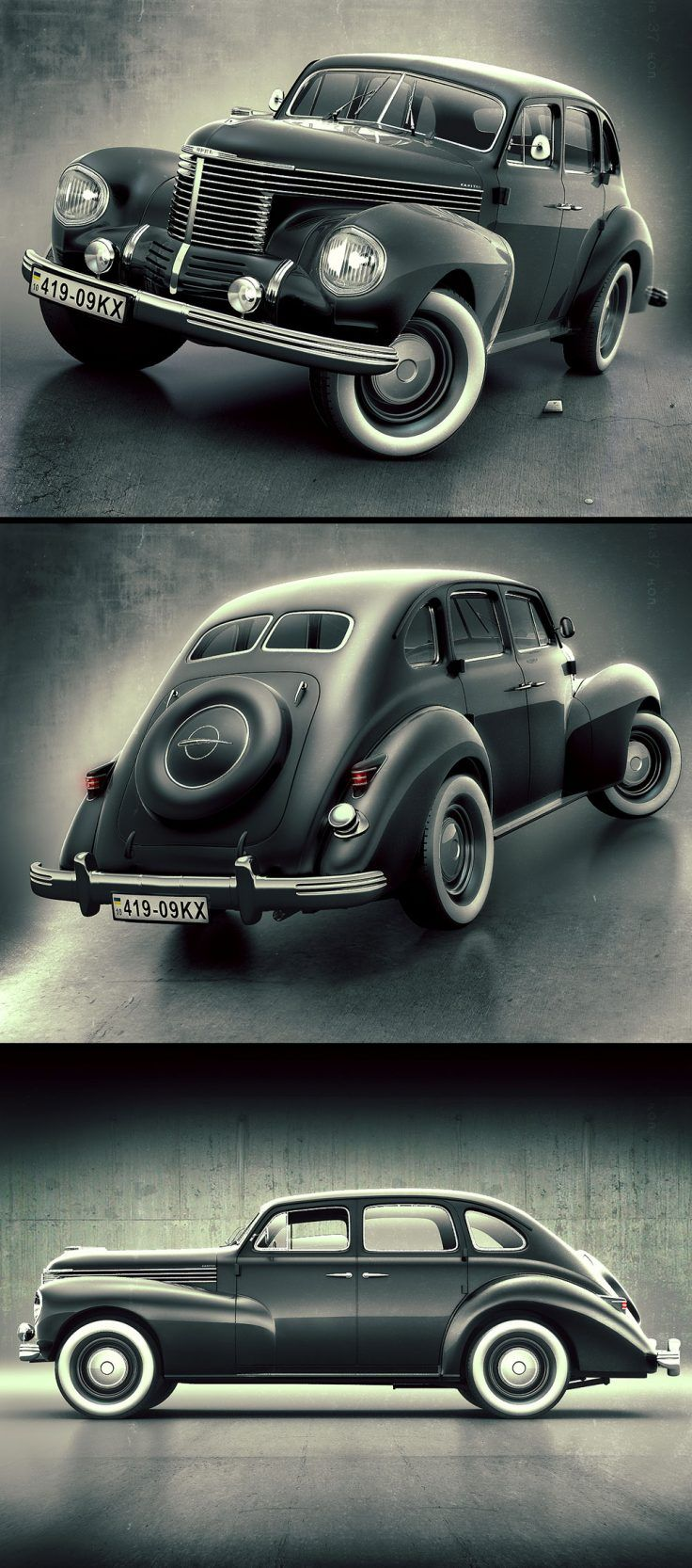 Image illustrative de l article opel ascona - Opel Kapitan 1938 By Alex Novitskiy