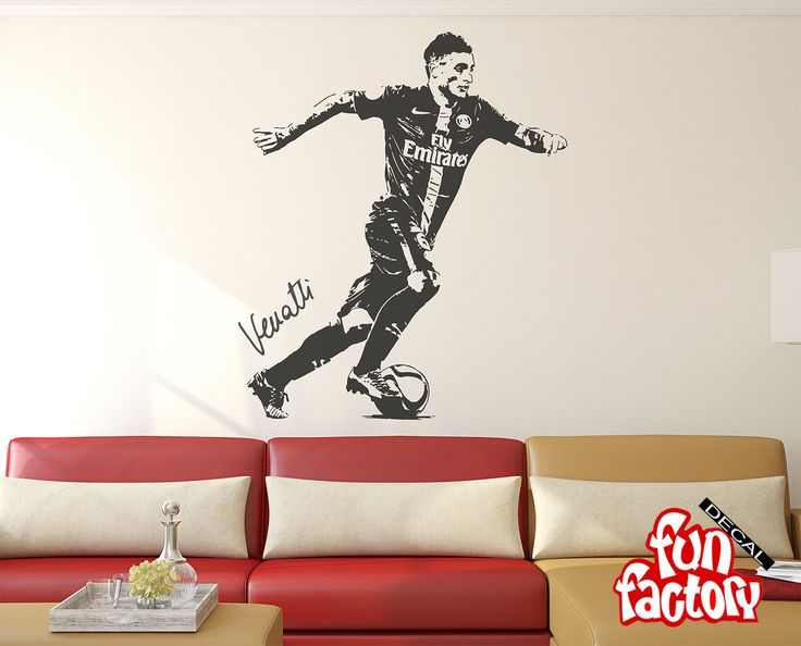 Marco Verratti Wall Decal v1 Sticker PSG Italy Football Soccer Player 0043s by FunDecalFactory on Etsy