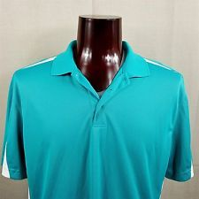 Chaps Stay Dry 78 Golf Shirt Men's XL Turquoise Teal White Short Sleeve w/ Tags