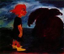 Child and Large Bird - Emil Nolde