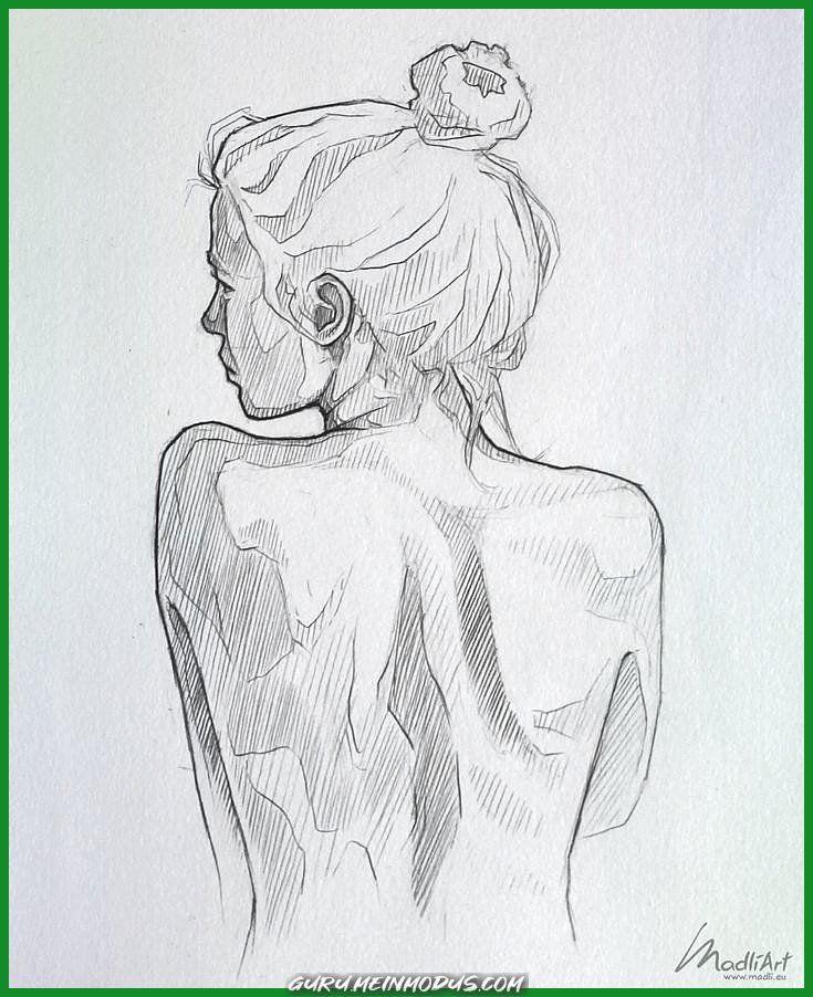 Einzigartige und Kreative Mein Skizzenbuch Menge I Drawing Woman I Woman nude Zurück I Drawin…