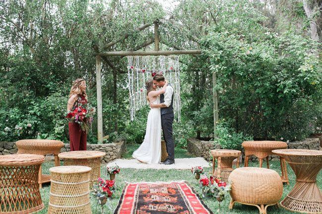 свадьба макраме бохо