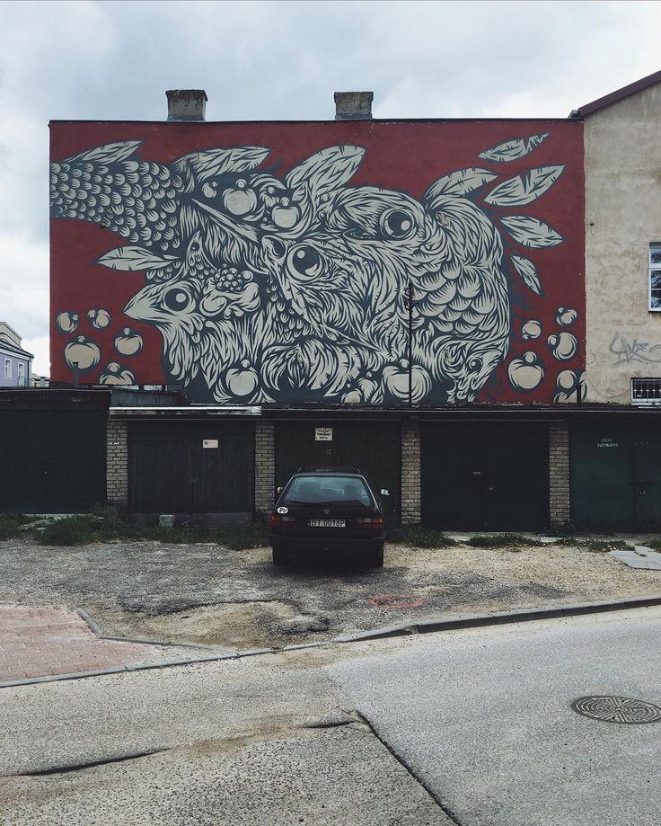 ::: a dragon or a bird? #streetart by @pawel_swanski | this is #bialystok poland