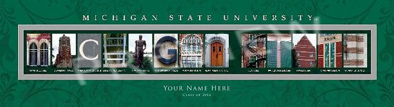 Michigan State Football by Gail on Etsy