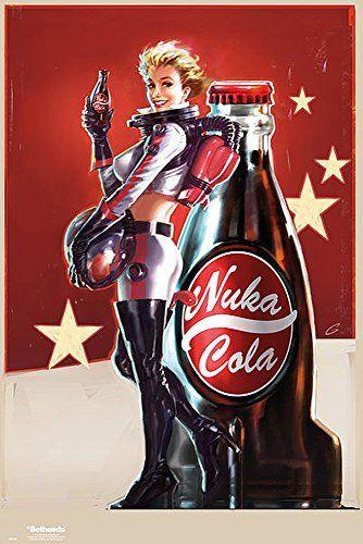 Poster Fallout 4 «Nuka Cola girl» (61cm x 91,5cm) + un joli emballage cadeau: Dimensions du poster 61cm x 91,5cm Le poster est envoyé…