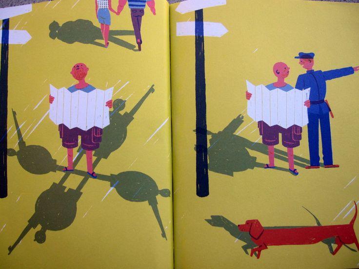 """Di libri che raccontano di ombre, la letteratura e l'illustrazione sono ricche. Le """"sombras"""" di Marta Monteiro, portoghese come l'editore Pato Logico, sono desideri che si proiettano lungo i nostri piedi, davanti a noi, come per indicarci la strada."""